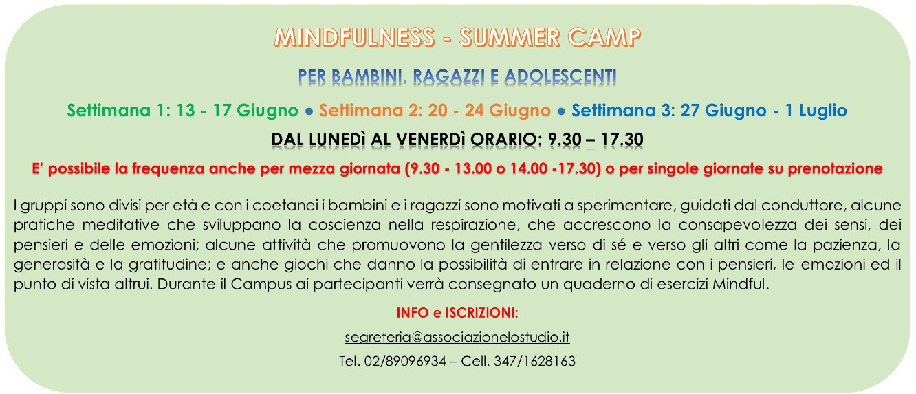 MINDFULNESS summer camp